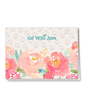 Pet Get Well Cards - Roses