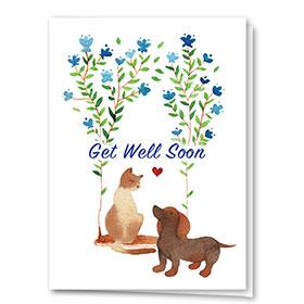 Pet Get Well Cards - Get Well Swing