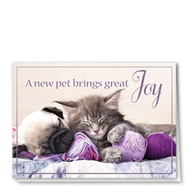New Pet Cards - New Pet Joy