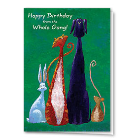 Pet Birthday Cards - Whole Gang
