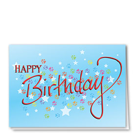 Pet Birthday Cards - Birthday Burst