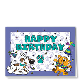 Pet Birthday Cards - Party Pets