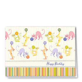 Pet Birthday Cards - Playful Party