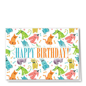 Pet Birthday Cards - Wacky Pets