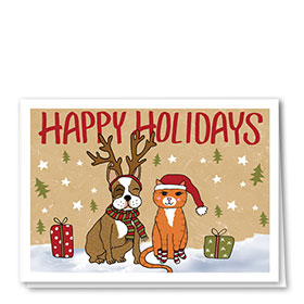 Veterinary Holiday Cards - Festive Friends