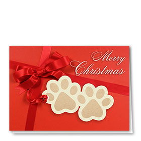 Veterinary Holiday Cards - Paws Tag