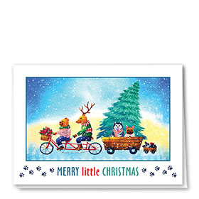 Veterinary Holiday Cards - Tandem Bike