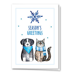 Veterinary Holiday Cards - Perfect Pair