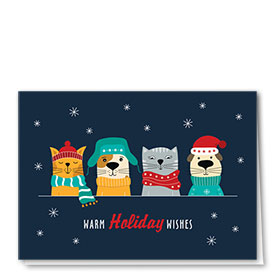 Veterinary Holiday Cards - Bundled Up