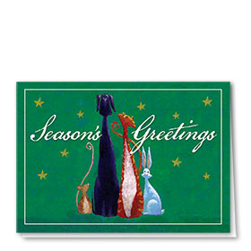 Veterinary Holiday Cards - Starry Greeting