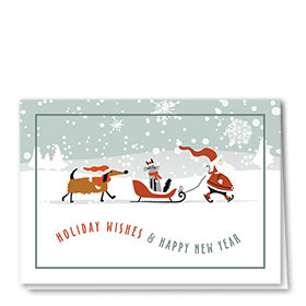 Veterinary Holiday Cards - Sleigh Ride