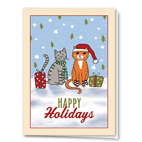 Veterinary Holiday Cards - Cute Cats