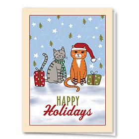 Veterinary Holiday Cards - Cute Cats