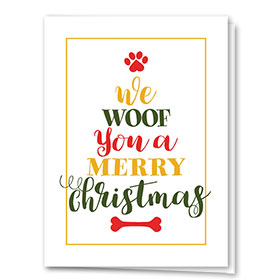 Veterinary Holiday Cards - Woof