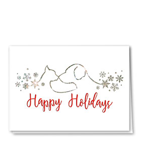 Foil Veterinary Holiday Cards - Snowflake Silhouette