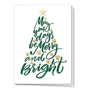 Foil Veterinary Holiday Cards - Days Be Merry