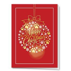 Foil Veterinary Holiday Cards - Sparkling Bulb