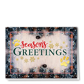Foil Veterinary Holiday Cards - Greeting Paws