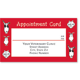 Full-Color Veterinary Appointment Cards - Friendly Faces