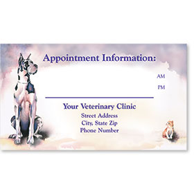 Full-Color Appointment Card-Creatures Great & Small