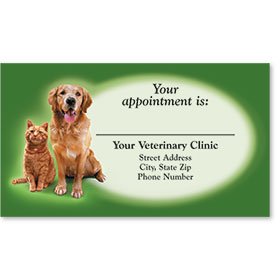 Full-Color Veterinary Appointment Cards - Reminder Duo