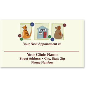 Full-Color Veterinary Appointment Cards - Vet