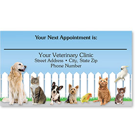 Full-Color Veterinary Appointment Cards - Friendly Fence