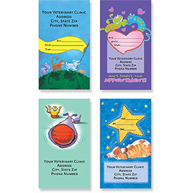Sticker Veterinary Appointment Cards - AC Pkg A