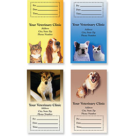 Sticker Veterinary Appointment Cards - AC Pkg B