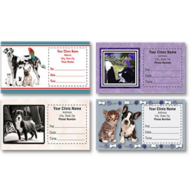Sticker Veterinary Appointment Cards - AC Pkg C
