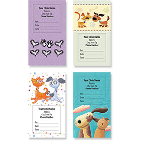 Sticker Veterinary Appointment Cards - AC Pkg D
