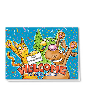 Welcome Card-Confetti Party