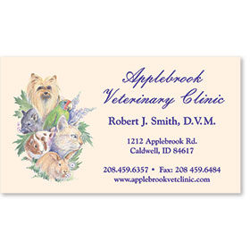 Veterinary Business Cards - Little Friends