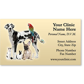 Veterinary Business Cards - Large & Small