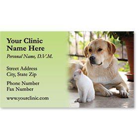 Veterinary Business Cards - Peaceful Afternoon