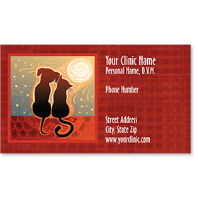 Veterinary Business Cards - Sunset Friends