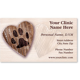 Veterinary Business Cards - Heart of Love