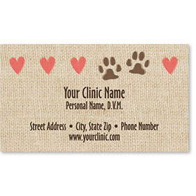 Veterinary Business Cards - Tiny Hearts