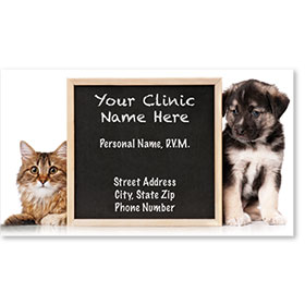 Veterinary Business Cards - Chalkboard Reminder