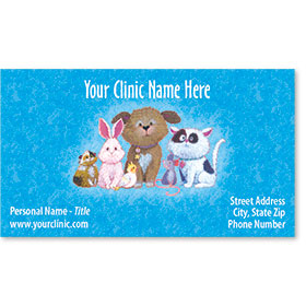 Veterinary Business Cards - Critter Print