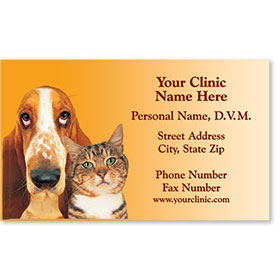 Veterinary Business Cards - Two Friends Revised