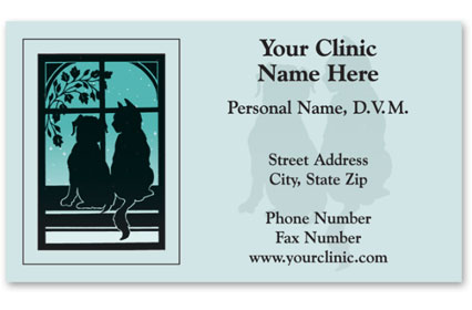 Business Card with Appointment Back-Peaceful Pets