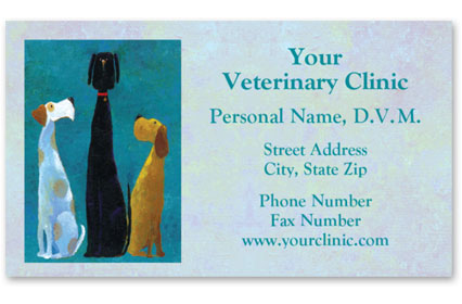 Business Card with Appointment Back-Top Dog