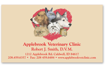 Business Card with Appointment Back-Dogs & Cats in Heart