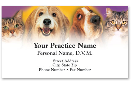 Business Card with Appointment Back-Pet Family