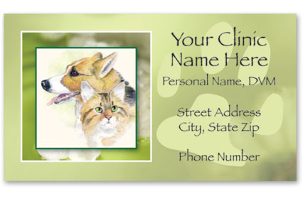 Business Card with Appointment Back-Eternal Memories