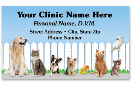 Veterinary Business Cards w/ Appointment - Friendly Fence