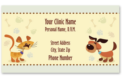 Veterinary Business Cards w/ Appointment - Don't Forget