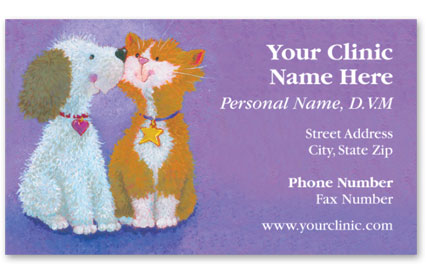 Veterinary Business Cards w/ Appointment - Fuzzy Friends