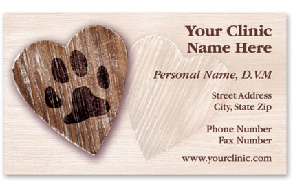 Veterinary Business Cards w/ Appointment - Heart of Love